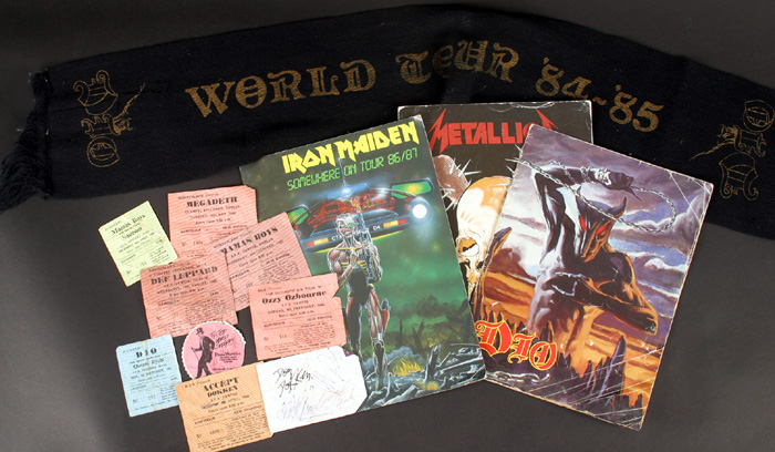 Hard Rock and Heavy Metal, live in Dublin, tickets and ephemera at Whyte's Auctions