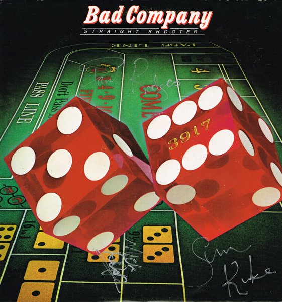 Bad Company, signed LP at Whyte's Auctions