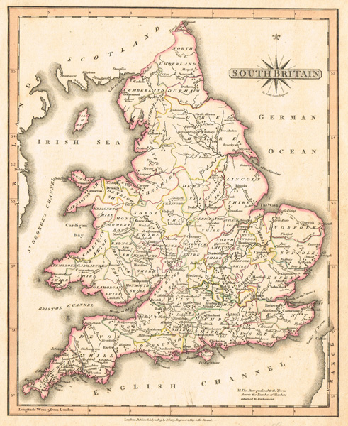 South Of France And Italy Map.1794 1809 Maps Of Britain France Italy India And Siam At Whyte S