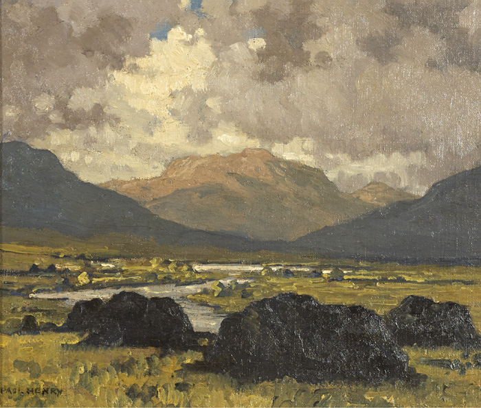 MAAM VALLEY, CONNEMARA by Paul Henry sold for €52,000 at Whyte's Auctions