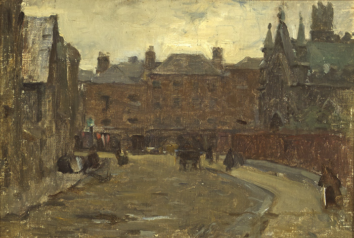 NEAR SAINT PATRICK'S CLOSE DUBLIN, c. late1890s by Walter Frederick Osborne sold for �18,000 at Whyte's Auctions
