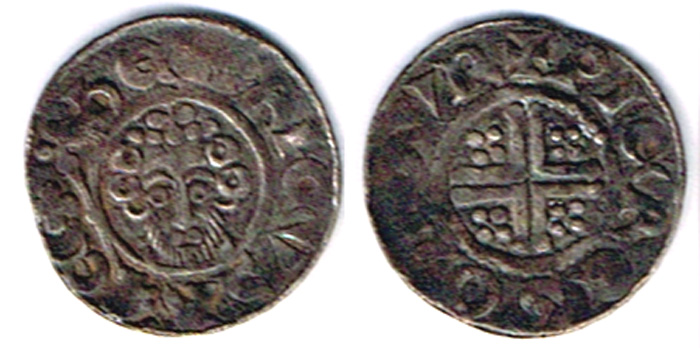 Golden Hammered Coin Small