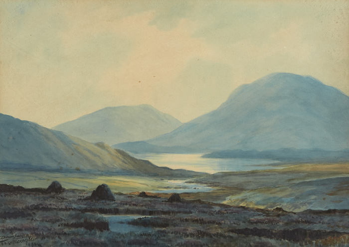 NEAR BALLYNAHINCH and AT KYLEMORE, CONNEMARA (A PAIR) by Douglas Alexander sold for �1,250 at Whyte's Auctions