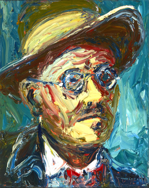 PORTRAIT OF JAMES JOYCE by Liam O'Neill (b.1954) (b.1954) at Whyte's  Auctions | Whyte's - Irish Art & Collectibles