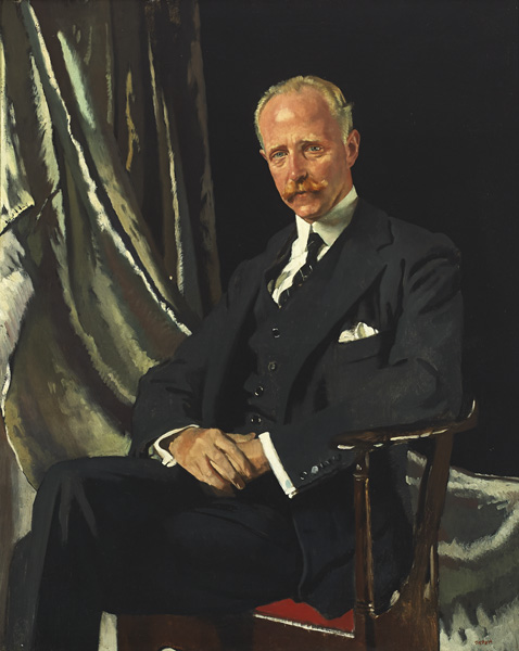 PORTRAIT OF VIVIEN HUGH SMITH (1867-1956), LATER FIRST 1st BARON BICESTER OF TUSMORE PARK, 1919 by Sir William Orpen sold for �26,000 at Whyte's Auctions