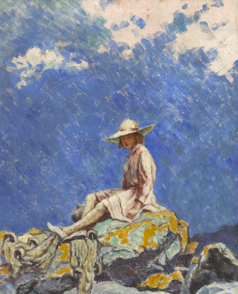BETTY ON THE ROCKS, 1919 by Mainie Jellett sold for �11,500 at Whyte's Auctions