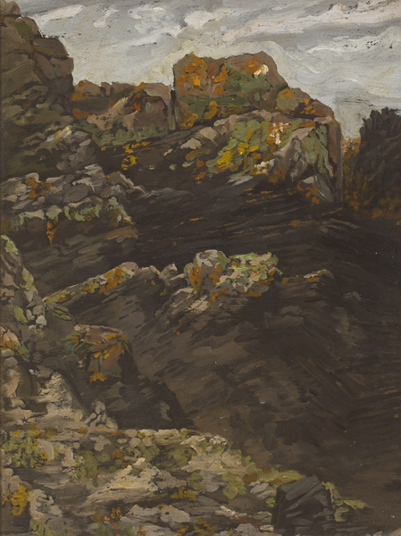 ROCKS, NORTH COUNTY DUBLIN by Margaret Clarke (née Crilley) sold for €380 at Whyte's Auctions