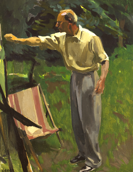 PAINTING IN A GARDEN, c.1940s by William John Leech sold for �18,000 at Whyte's Auctions