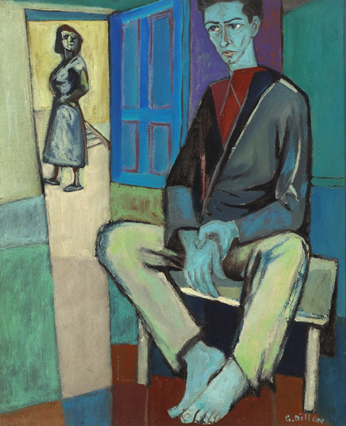 PORTRAIT OF DAN O'NEILL, 1952 by Gerard Dillon sold for �21,000 at Whyte's Auctions