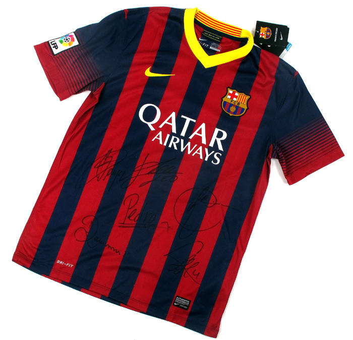 online store 5ae66 7355d Football, FC Barcelona, 2013/14, signed home jersey. at ...