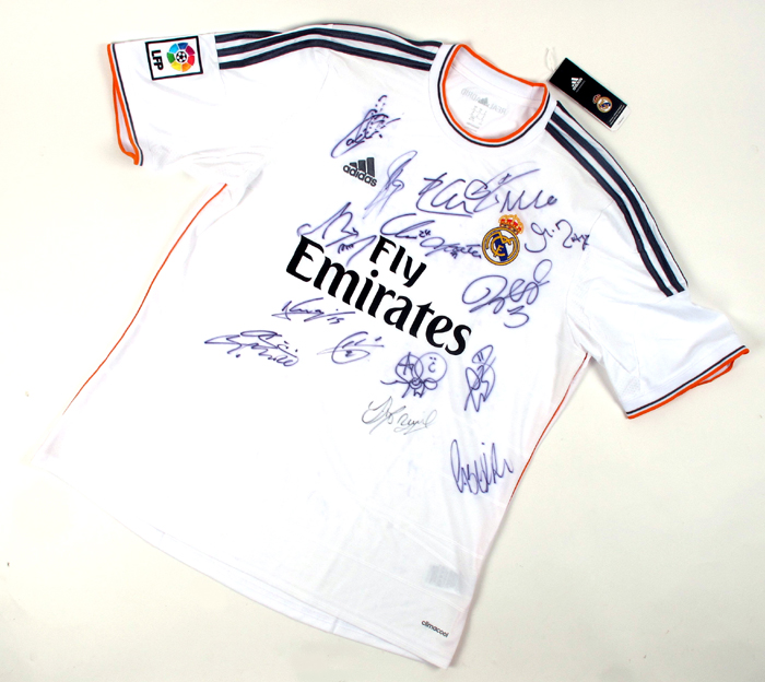 info for 95d82 b8dd5 Football, Real Madrid, 2013/14, signed home jersey. at ...