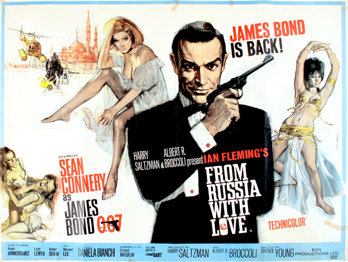From Russia With Love, British Quad poster. at Whyte's Auctions