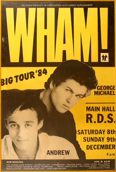 fa5162321727 Wham! 1984 concert poster. at Whyte's Auctions | Whyte's - Irish Art ...