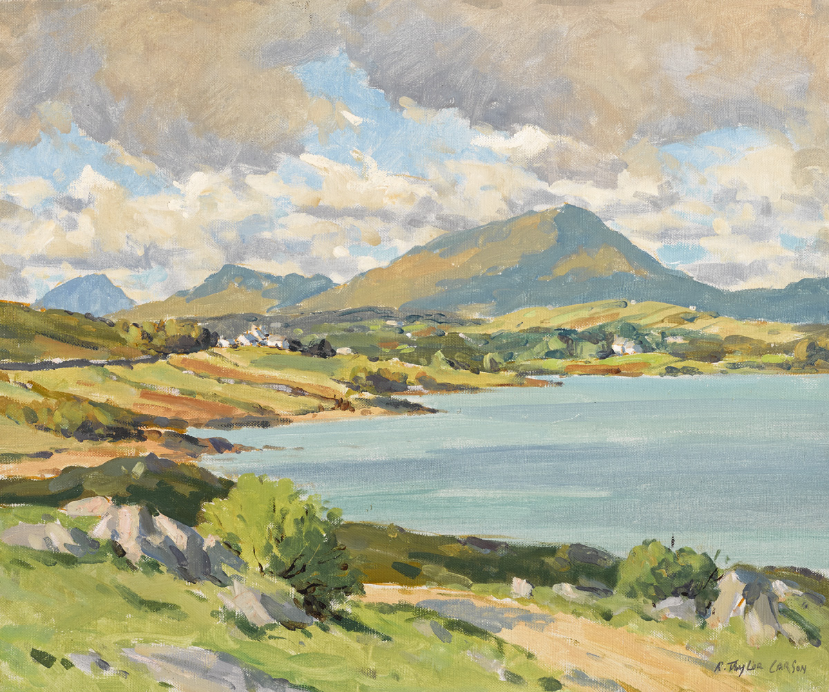 MUCKISH VIEW, COUNTY DONEGAL by Robert Taylor Carson HRUA (1919-2008) at Whyte's Auctions