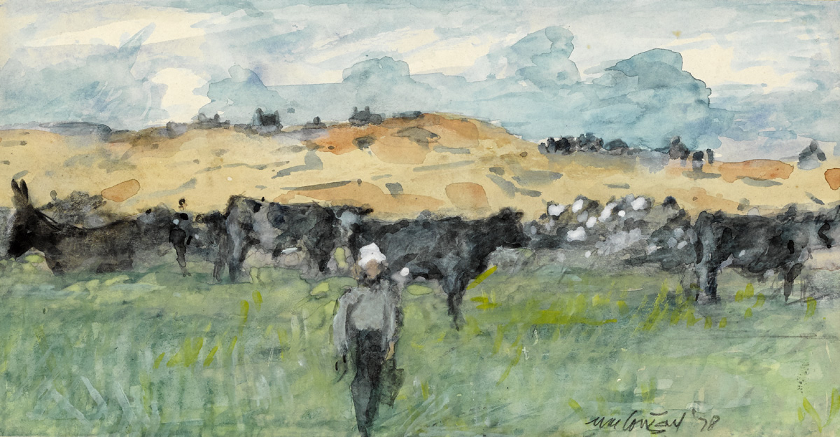 COWS, CONNEMARA, 1978 by Maurice MacGonigal PRHA HRA HRSA (1900-1979) at Whyte's Auctions