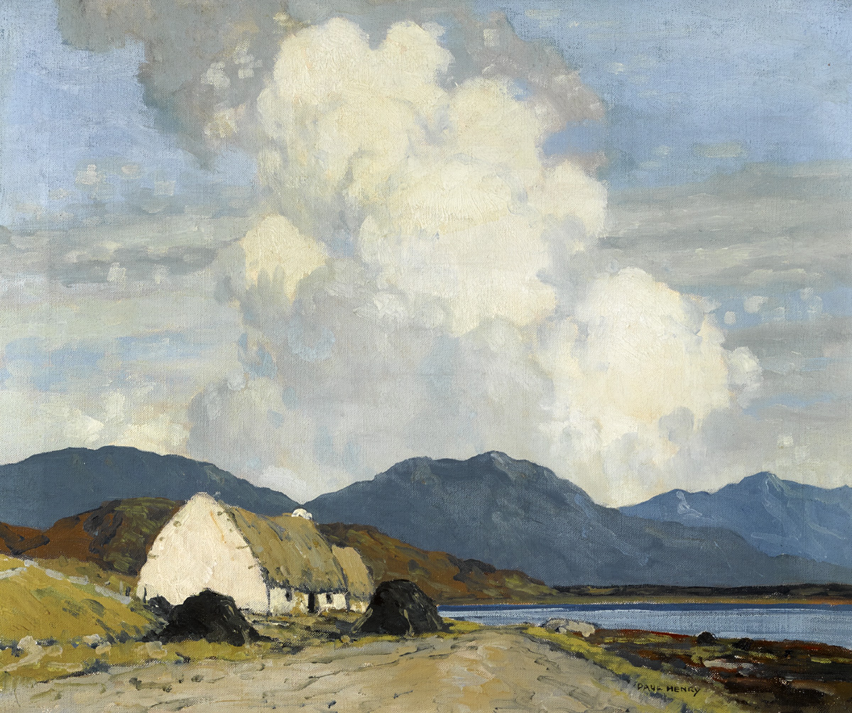 CONNEMARA LANDSCAPE, 1930-1940 by Paul Henry sold for €100,000 at Whyte's Auctions