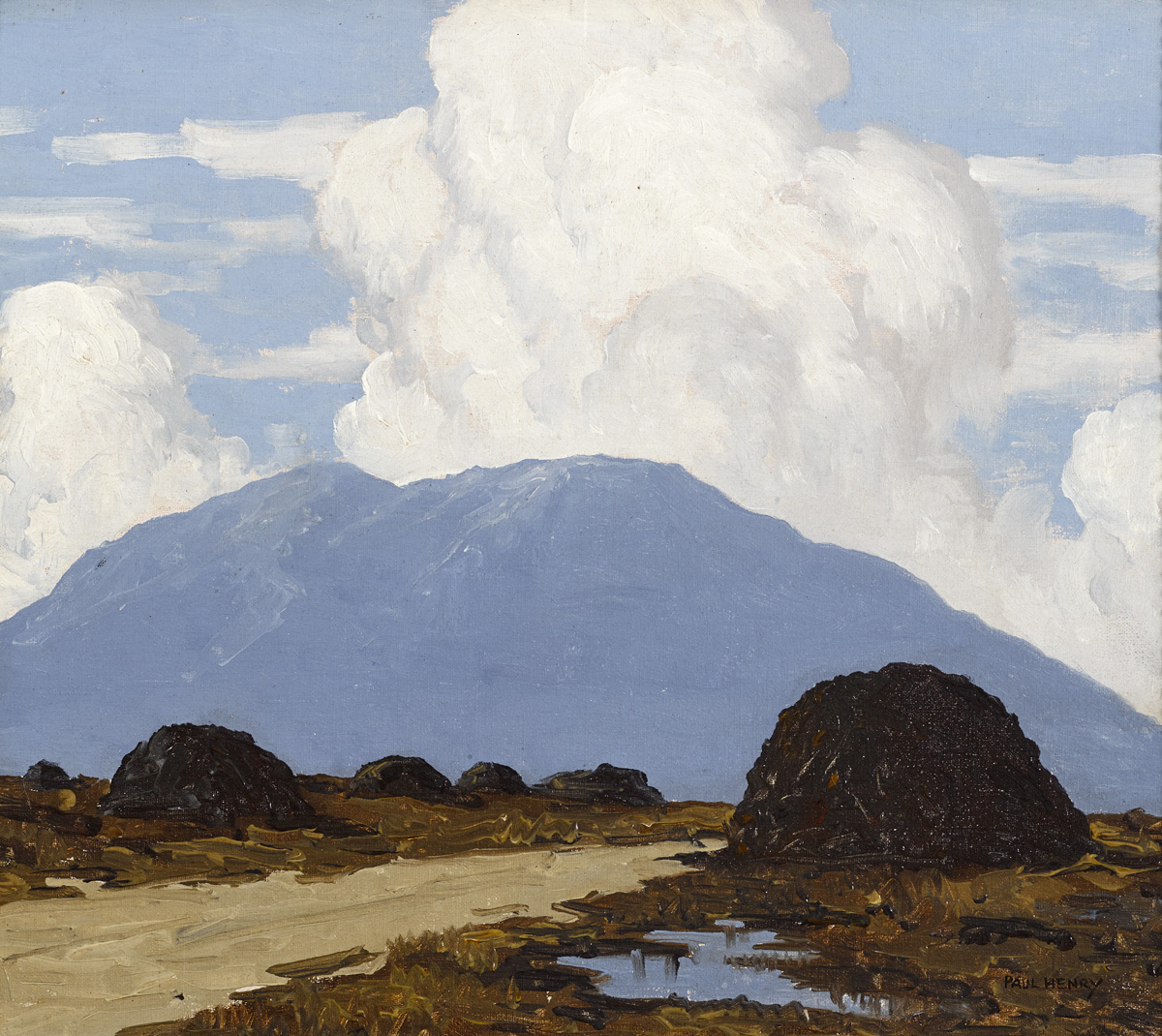 WEST OF IRELAND ROAD THROUGH THE BOG, c.1932-1935 by Paul Henry sold for €82,000 at Whyte's Auctions
