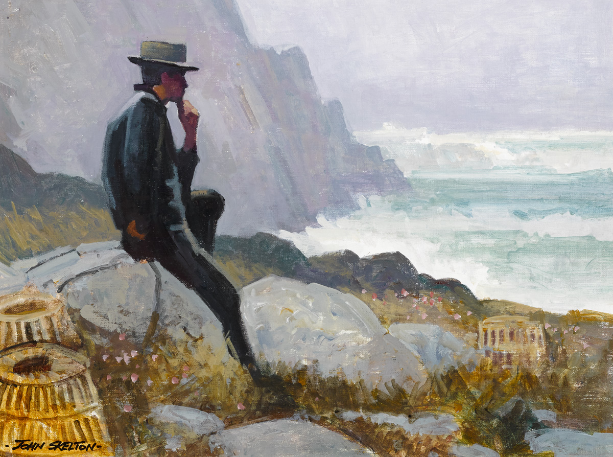 WAITING FOR THE FOG TO CLEAR, DUNQUIN, COUNTY KERRY by John Skelton (1923-2009) at Whyte's Auctions