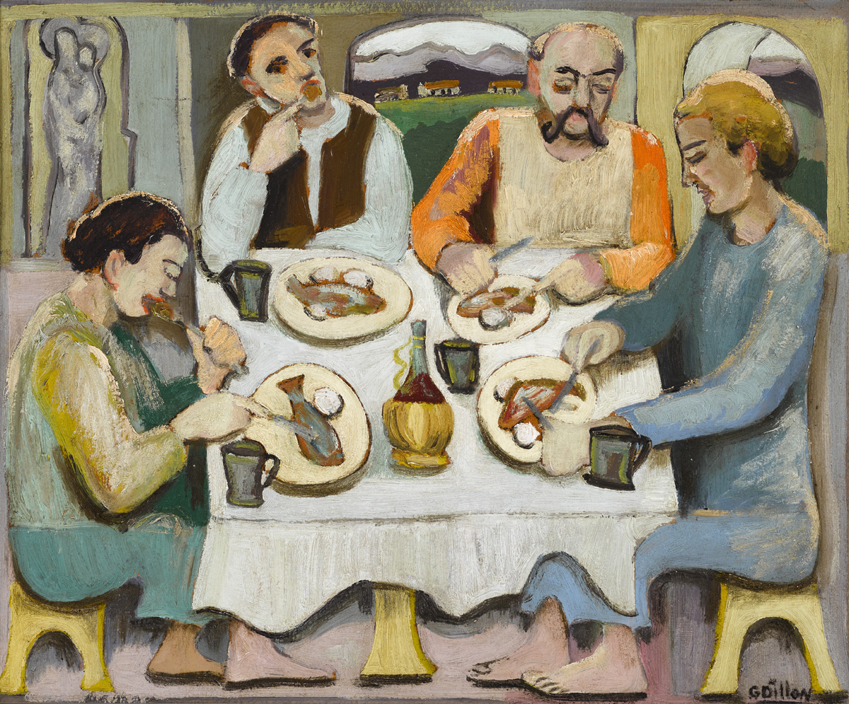 THE FISH EATERS, 1946 by Gerard Dillon sold for �24,000 at Whyte's Auctions