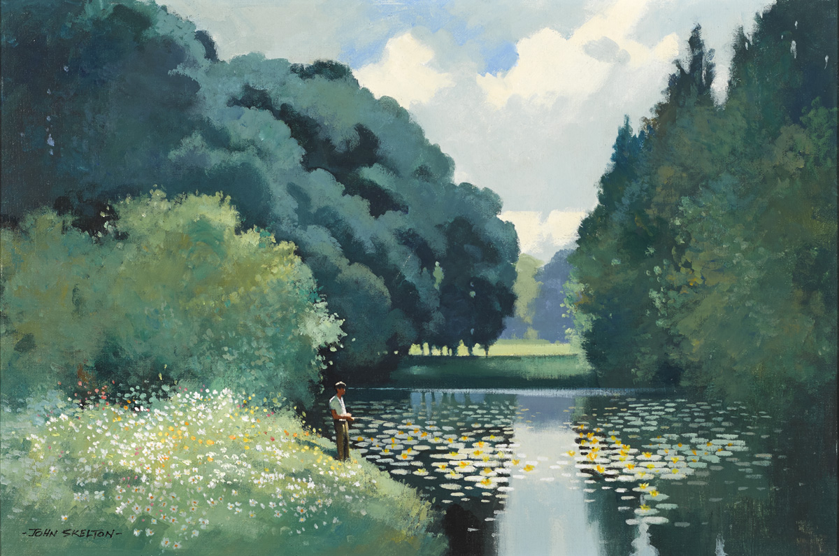 FIGURE BY A POND by John Skelton (1923-2009) at Whyte's Auctions