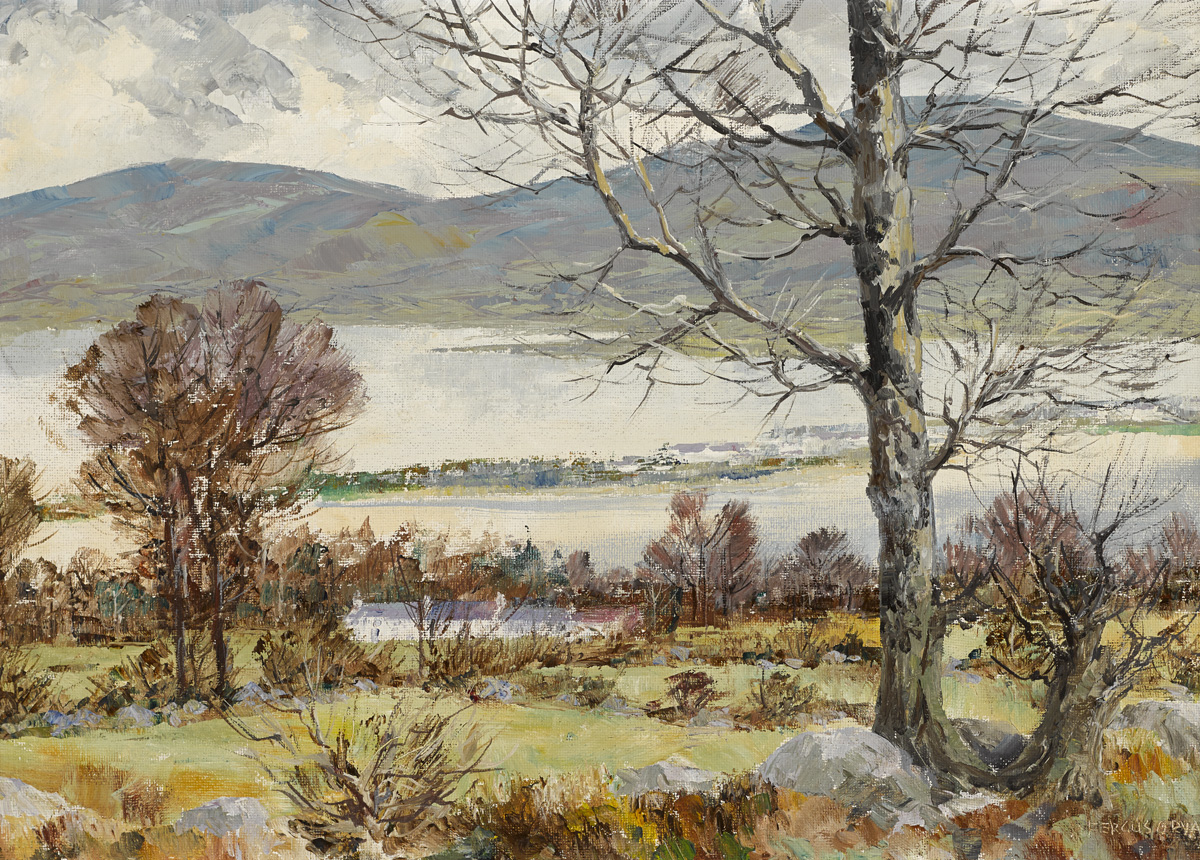 VALLEYMOUNT AND POULAPHOUCA LAKE by Fergus O'Ryan RHA (1911-1989) at Whyte's Auctions