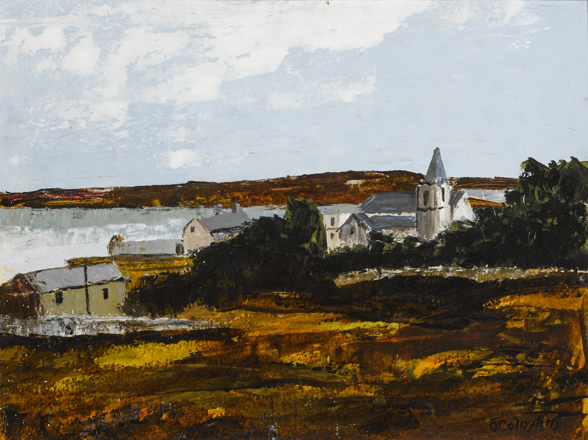 THE MONASTERY, ROUNDSTONE by S�amus � Colm�in (1925-1990) at Whyte's Auctions