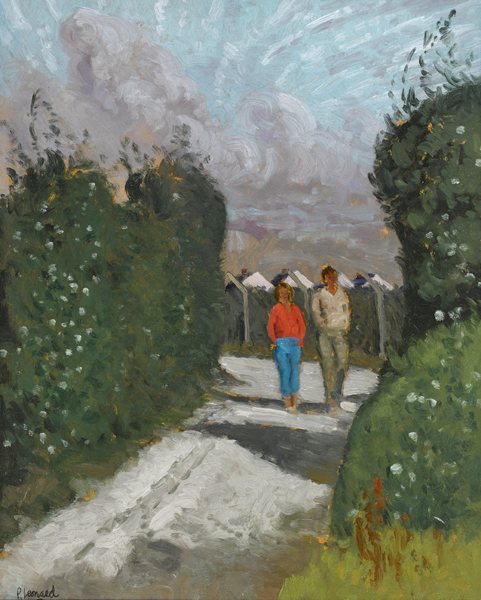 OLD MILL LANE, SKERRIES, MORNING SUN, 1984 by Patrick Leonard HRHA (1918-2005) at Whyte's Auctions