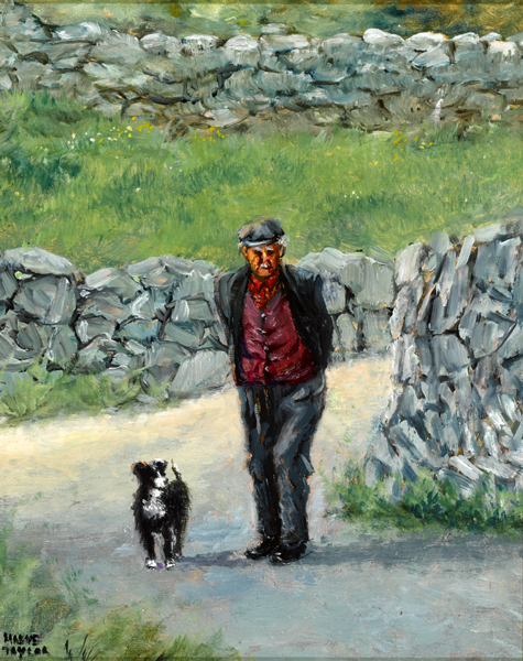 ONE MAN AND HIS DOG by Maeve Taylor (b.1928) at Whyte's Auctions