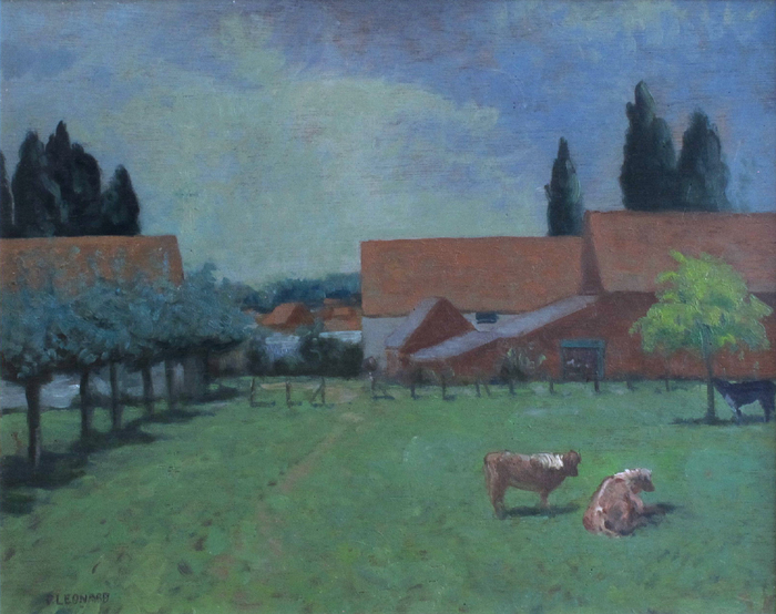 A SUMMER'S DAY, FARM NEAR TERVUREN BELGIUM, 1979 by Patrick Leonard HRHA (1918-2005) at Whyte's Auctions
