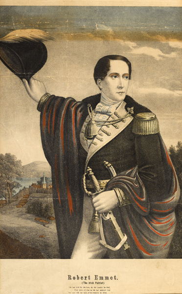 Robert Emmet, The Irish Patriot, colour print at Whyte's Auctions