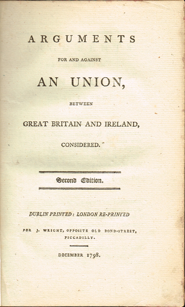 1798 - 1868 Bound collection of political pamphlets relating to Ireland, signed by George Canning, British Prime Minister. at Whyte's Auctions