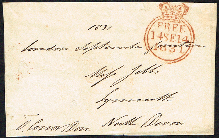 1831 (14 September) front of letter signed O'Conor Don. at Whyte's Auctions