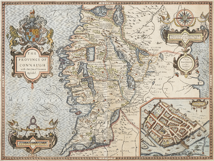 17th Century, John Speed, map of Connaught at Whyte's Auctions