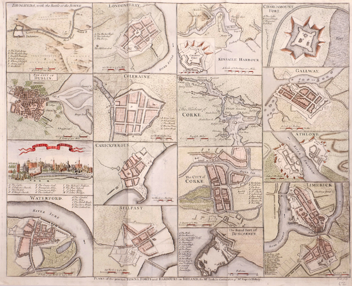 1759 Plans of the Principal Ports, Towns and Harbours of Ireland for Mr.Tindall's Continuation of Mr Rapin's History. at Whyte's Auctions