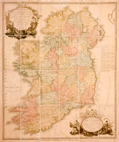 1797 Alexander Taylor, military map of Ireland. at Whyte's Auctions
