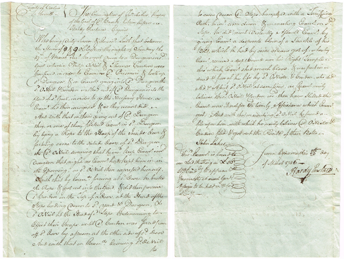 1786 Escape from the dungeon of Carlow Gaol at Whyte's Auctions