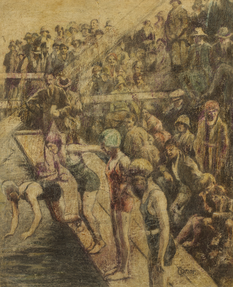 SWIMMING GALA by William Conor OBE RHA RUA ROI (1881-1968) at Whyte's Auctions