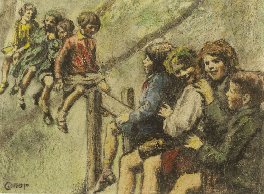 THE SEE-SAW by William Conor OBE RHA RUA ROI (1881-1968) at Whyte's Auctions