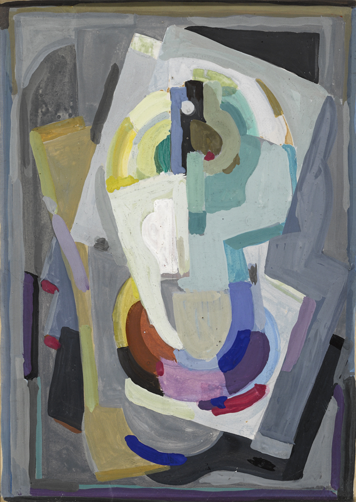 CUBIST COMPOSITION by Mainie Jellett sold for �5,200 at Whyte's Auctions