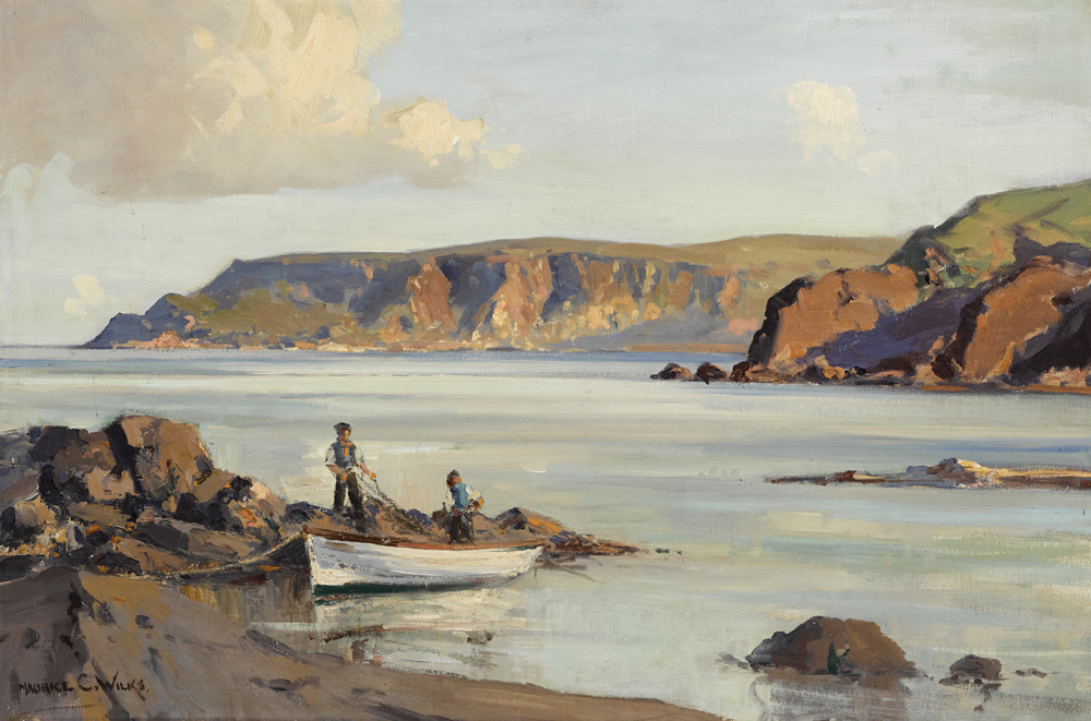POINT OF GARRON, COUNTY ANTRIM by Maurice Canning Wilks RUA ARHA (1910-1984) at Whyte's Auctions
