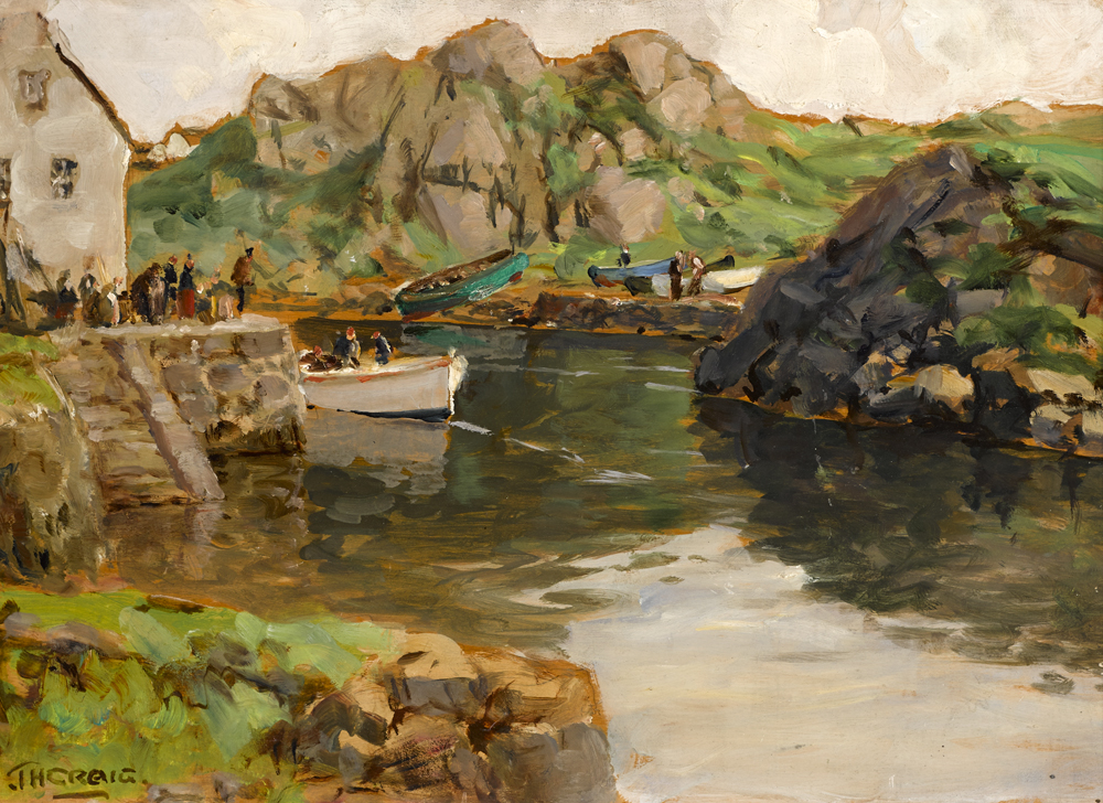 THE HARBOUR, BUNBEG, COUNTY DONEGAL by James Humbert Craig RHA RUA (1877-1944) at Whyte's Auctions