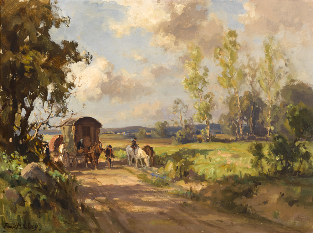GYPSIES ON THE MOVE by Frank McKelvey RHA RUA (1895-1974) at Whyte's Auctions