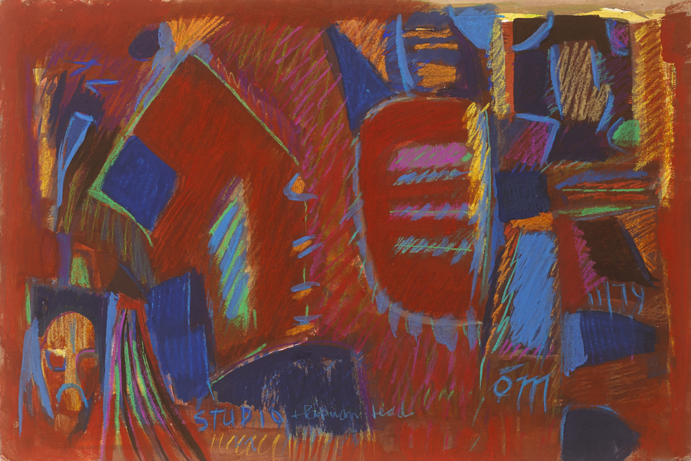 STUDIO AND PAPMAN HEAD, 1979 by Tony O'Malley HRHA (1913-2003) at Whyte's Auctions
