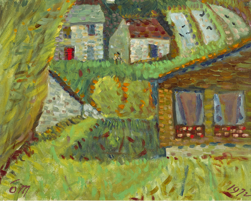 COTTAGES, ST MARTINS, 1972 by Tony O'Malley HRHA (1913-2003) at Whyte's Auctions