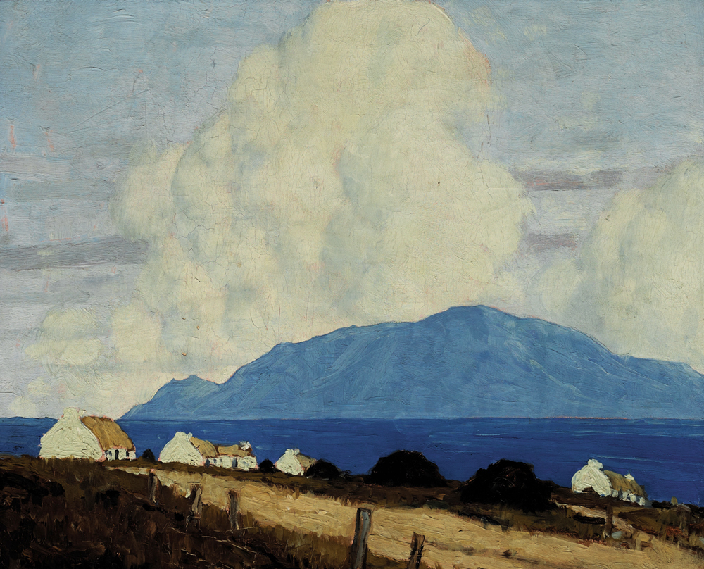 WEST OF IRELAND LANDSCAPE, 1925-1935 by Paul Henry sold for €87,000 at Whyte's Auctions