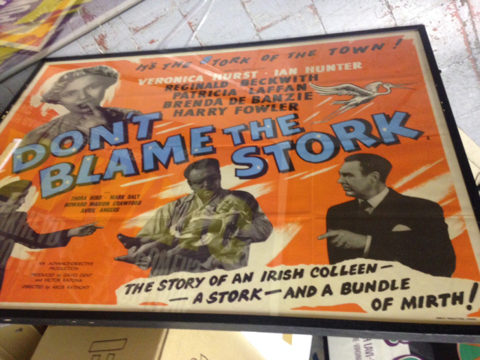 Don't Blame the Stork, framed cinema poster  at Whyte's