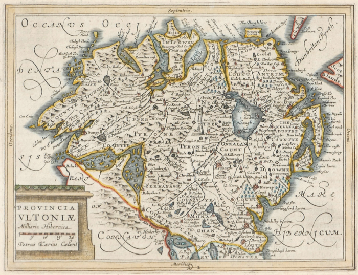 Mid 17th century maps of Leinster and Ulster, after Mercator. at Whyte's Auctions