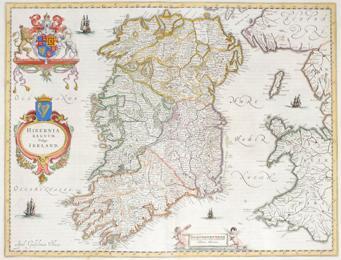 1662 Map of Ireland by Joan Blaeu at Whyte's Auctions