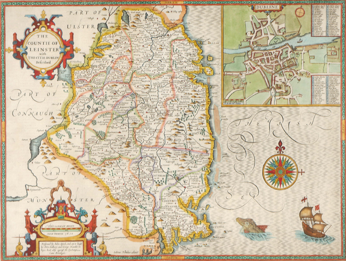 Map Of Ireland Leinster.1632 Map Of Leinster By John Speed At Whyte S Auctions Whyte S