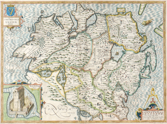 Early 17th century, map of Ulster by John Speed. at Whyte's Auctions